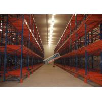 Supply Chain Push Back Pallet Racking Steel Storage Shelving 2 Uprights Frame