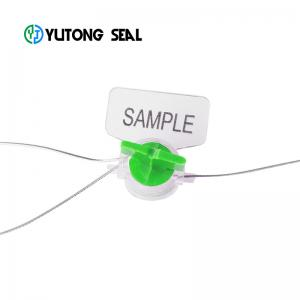 China twist safety meter seal, security meter seal lock with barcode for water meter on sale