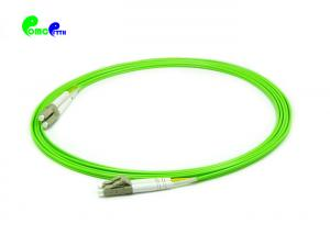 China Customized Length Fiber Optic Patch Cables LC UPC To LC UPC Duplex OM5 Multimode LSZH on sale