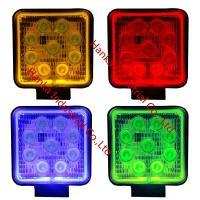 China 1800 Lumen Halo Work Light , Spot / Flood 27W Car Halo Light For 4x4 Offroad on sale