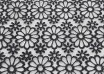 Embroidered Dying Lace Fabric Floral Lace Organza Polyester Fabric For Dresses