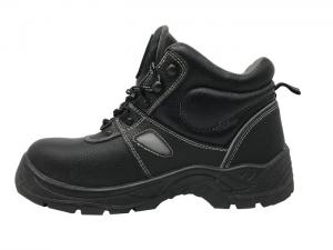 China Barton Leather Oil Resistant Work Shoes , Black Non Slip Work Shoes For Operator on sale