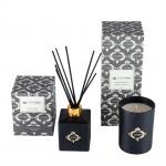 Black Gold Candle And Diffuser Gift Set / Luxury Aromatherapy Reed Diffuser Set