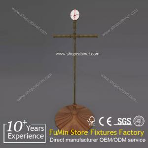 China contemporary invisible wall attachment of various size clothes store wood display shelf on sale
