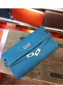 China OEM high quality jeans blue women soft calfskin brand name purse designer purse passport wallet card wallets LR-W02-23 on sale