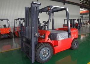 China Double Front Tyre Diesel Forklift Truck 4000kg  6000mm Internal Combustion Forklifts on sale