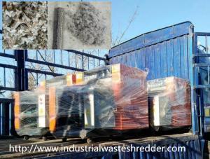 China Scrap Carpet Industrial Shredder Machine 3000 - 5000kg / H Adjustable Cutting Size on sale
