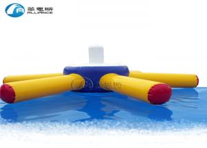 China Double Seats Inflatable Water Games Inflatable Water Floating Disc Plastic Raft on sale