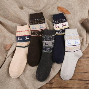 China Wholesale christmas men wool crew socks 5 colors available small quantity accept on sale