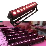 factory lighting 9PCS 18W RGBAWUV 6in1 led wash light,wedding lighting,dmx512 led wall washer,building color wash