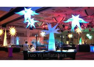 China Party Stage Decoration Color Changing Inflatable Star With CE / UL Air Pump on sale