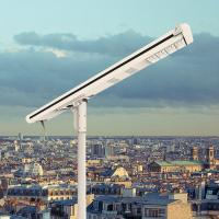 Framed Panel Solar Powered Parking Lot Lights Waterproof High Efficiency Garden Lamp