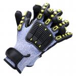 Luxcury Quality Level 5 Anti-Cutting Impact Protection TPR Mining Work Gloves