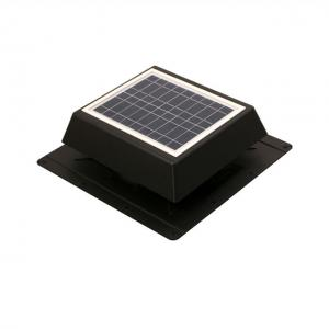China 10W 9Inch Solar Roof Ventilator with solar panel powered and storage battery on sale