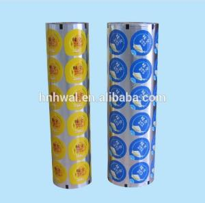 China 2019 High Quality Aluminum foil lids film for jelly cup sealing on sale