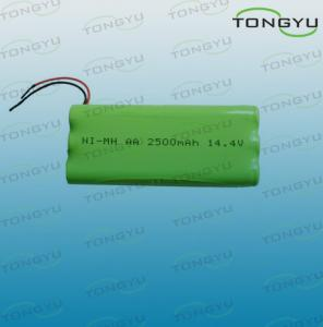 China AA 2500mAh 14.4V NiMh Rechargeable Battery Pack for Electronic Toys , Flashlights on sale