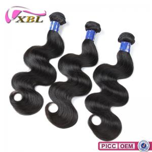 China Natural Unprocessed Virgin Peruvian Human Hair Weave And Weft , Body Wave on sale