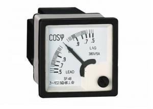 China PFC Meter Analog Power Factor Meter Cos Meter 1P 110V 220V 3P 380V 600V on sale