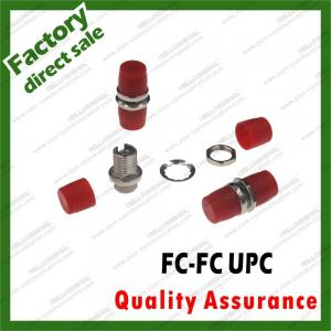 China fc-fc/upc metal fiber Optic simplex adapter zinc alloy coupler for fiber optical cable patch cords sc fc st lc all types on sale