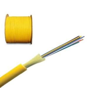 China Yellow indoor Singlemode 6 core Optical fiber Cables for FTTH  Network on sale