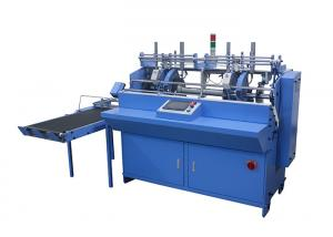 China Book Page Gluing Automatic Book Binding Machine Touch Screen Centralized Control on sale