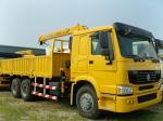 El camión hidráulico del brazo de 16 T/16000KG montó las grúas/la grúa SQ16ZK4Q del camión del nudillo en rojo