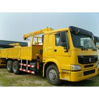 China Hydraulic 16 T/16000KG  Arm Lorry Mounted Cranes / Knuckle Truck Crane SQ16ZK4Q in Red on sale