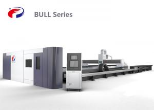 China Gantry Plasma Metal Cutting Machine , Cnc Fiber Laser Cutting Machine For Large Size on sale