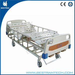 China 4 - Rank Al - Alloy Side Rails Manual Hospital Beds 2 - Function With Double Shake on sale