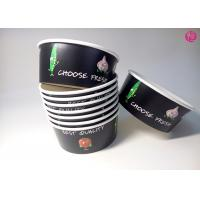 32oz Black Background Paper Salad Bowls Eco Friendly take out salad containers 44oz