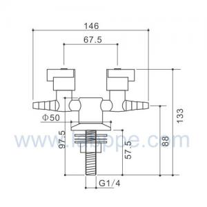Quality SHB10-2-Single outlet gas fitting,Gas valves/cock,Deck mounted,quick open for sale