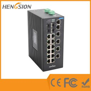 China 18 Port Industrial managed ethernet switch , 4 SFP Gigabit fiber network switch on sale