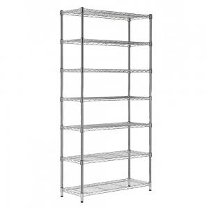 China 7 Tiers Industrial Chrome Plated Stackable Wire Shelving Units , 14 Inch Deep Wire Shelving on sale