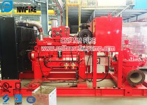 China Horizontal Centrifugal Split Case Fire Pump Set With Cummins Diesel Engine , CCCF Standard on sale