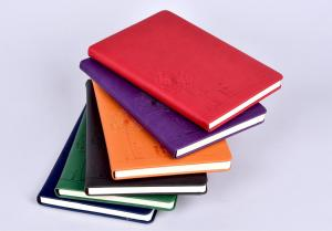 China hard cover notebook  pu leather diary non perforated spiral notebook with spiral bound leather notebook on sale