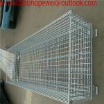 Wire cage folding warehouse collapsible metal wire mesh container/warehouse storage cage mesh storage