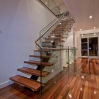 China Prefabricated Stairs Modern Steel Wood Staircase Prices on sale