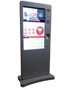China Touch Screen Interactive Self Service Payment Kiosk With Card Reader Water proof on sale