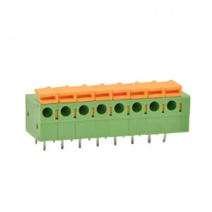 China Side Entry Screwless PCB Terminal Block Connector 0.2 Pitch For Electric Appliances on sale
