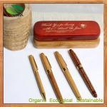 Stylo de boule en bambou de stylo en bambou de métier de la Chine pour le stylo promotionnel de stylo, de bureau et d'école, affaires