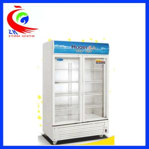 China Glass Door Soft Drink Upright Refrigerator Display Cooler Freezer Showcase on sale