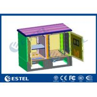 Single Layer Galvanized Steel Integrated Outdoor Two Compartment Telecom Cabinet Anti-corrosion Powder Coating