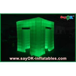 China Bel aspect d'événement de cabine gonflable verte sûre portative de photo on sale