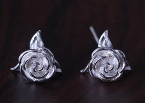 China New S925 Silver Personality Creative Jewelry Rose Earrings Fashion Stud Earring on sale