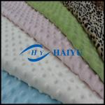 Solid 100 Polyester Minky Dot Fabric Soft Skin - Friendly  For Baby Blanket