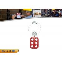 China Economic Steel Lockout Hasp 6 Prying Resistant Hook ABS Coated Body on sale