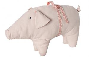 China Kids handmade Soft Cute Pig linen toy , hand warm pillow plush toys 10 on sale