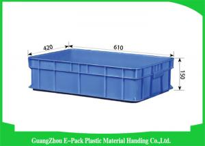 China Agriculture Stackable Plastic Storage Containers , Durable Euro Stacking Boxes 610 * 420 * 150mm on sale