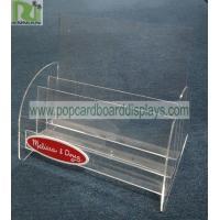 China POP 3 Tiers Acrylic Display Stands Counter Magazine Brochure Display Racks on sale