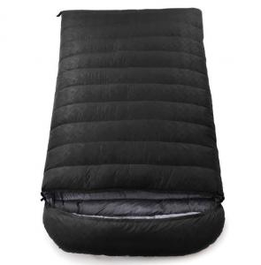 China 2 Person Type Waterproof Sleeping Bag Goose Down Filling For Travelling on sale